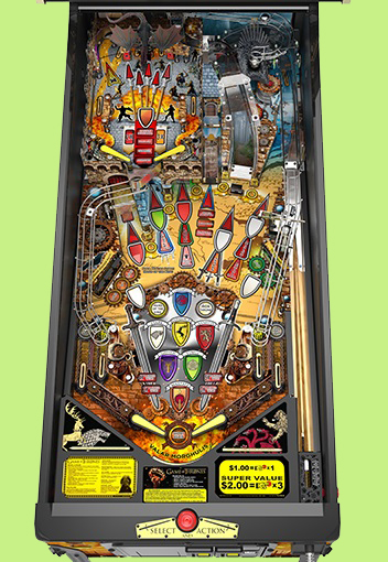 Game of thrones pinball is available through authorized stern pinball distributors and dealers around the world
